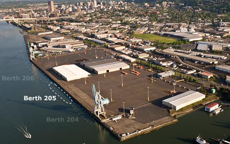 Berth 205 Location