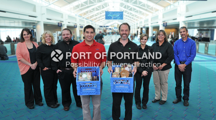PDX concessionaires and neighboring partners have joined forces with St. Vincent de Paul, a local nonprofit, to provide more than 52,542 pounds of food to hungry families in the community, which equated to 25,028 meals in 2013.