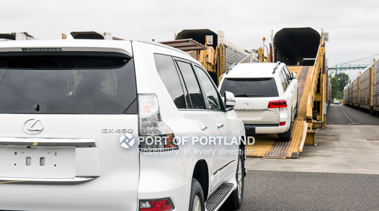 Honda and Acura vehicles are imported at Terminal 6, where roughly 20 percent are trucked to regional dealerships and 80 percent travel by rail to dealerships across the country.