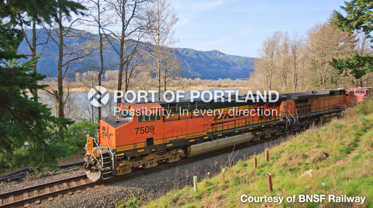 Port of Portland marine terminal and industrial park tenants depend on smooth rail operations to move millions of tons of freight each year. The Port continuously works with private and public partners to develop and fund rail projects aimed at keeping Portland's excellent rail network running smoothly.