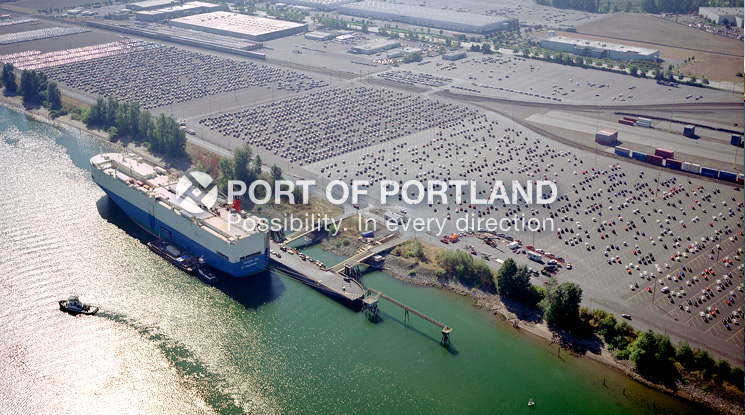 Port of Portland auto facilities handle approximately a quarter million autos every year, and each one brings an economic benefit of $271 to the region. The Port of Portland is an auto import gateway for Hyundai, Honda, Acura, Toyota, Lexus and Scion vehicles and an export gateway for Ford vehicles.
