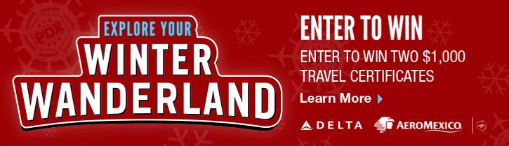 Winter Wanderland, enter to win.