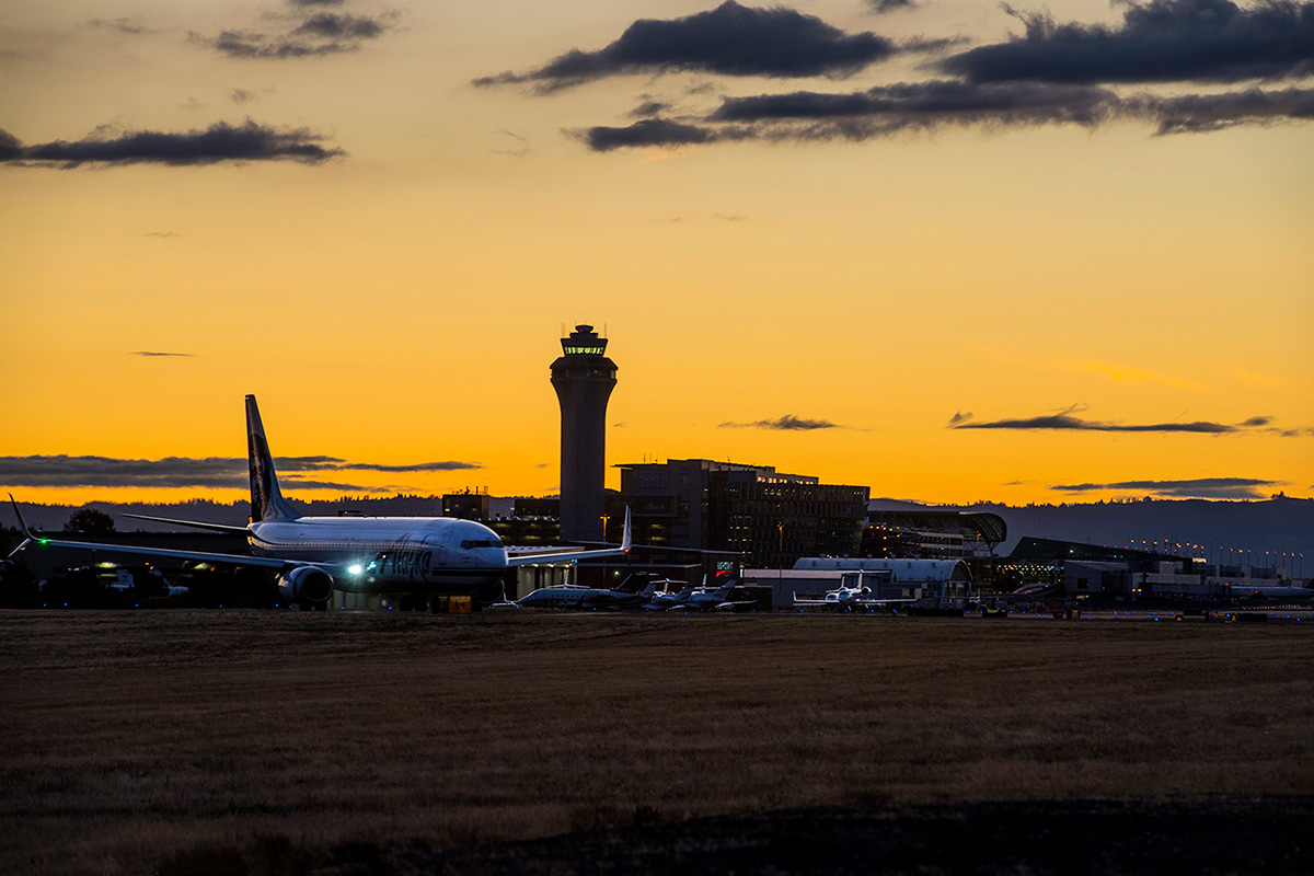 PDX Airfield at Sunset