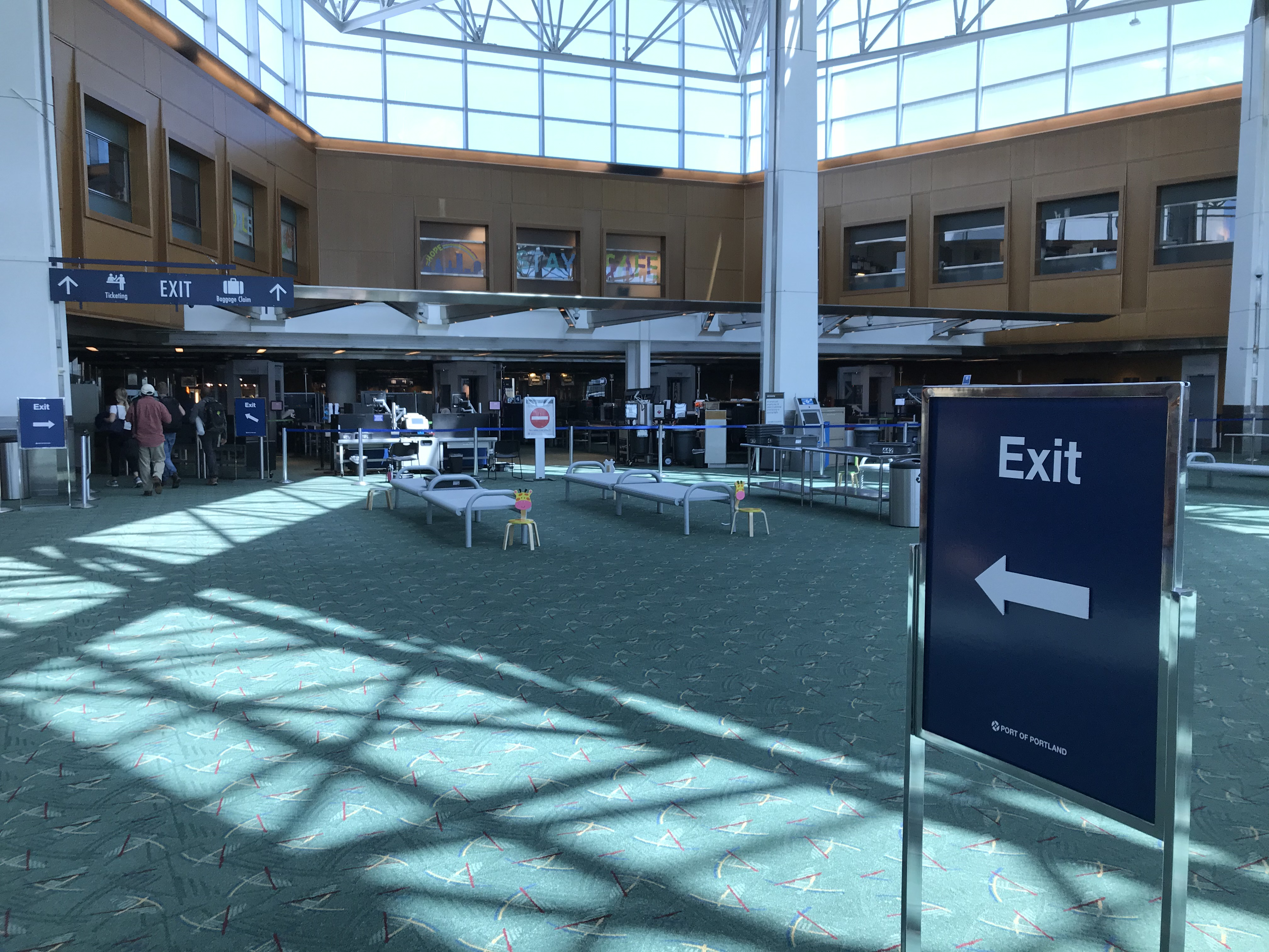 Exit Lane Changes on Concourse B and C