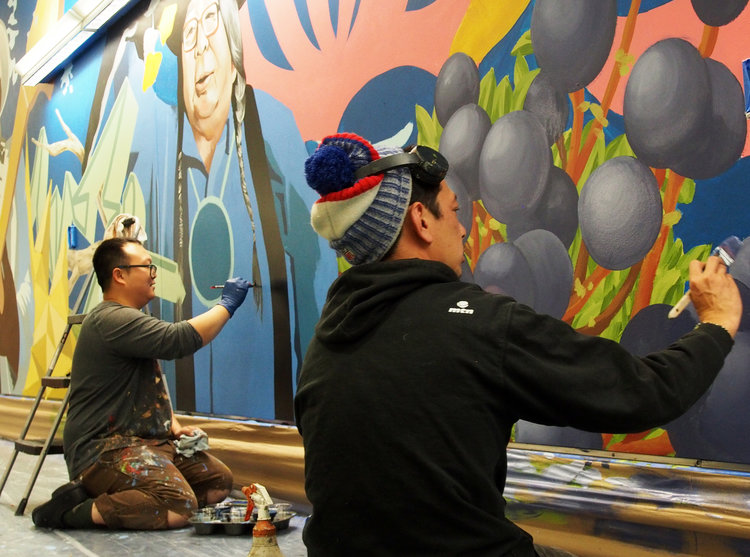 Local artists begin work to create PNW-inspired mural at PDX