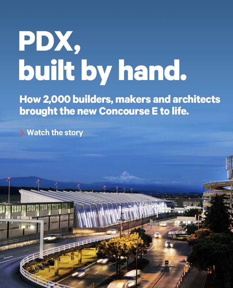 The year of... Mt. Hood views. We're making Concourse E brighter, tastier and PDX-ier. Arriving in June.