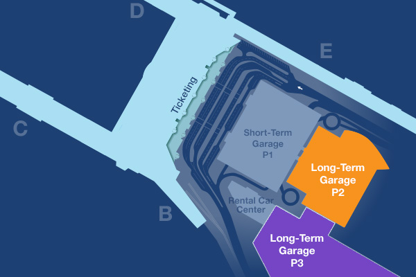 Long-term parking map