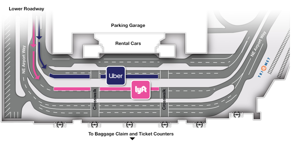 Rideshare Pickup Location Map