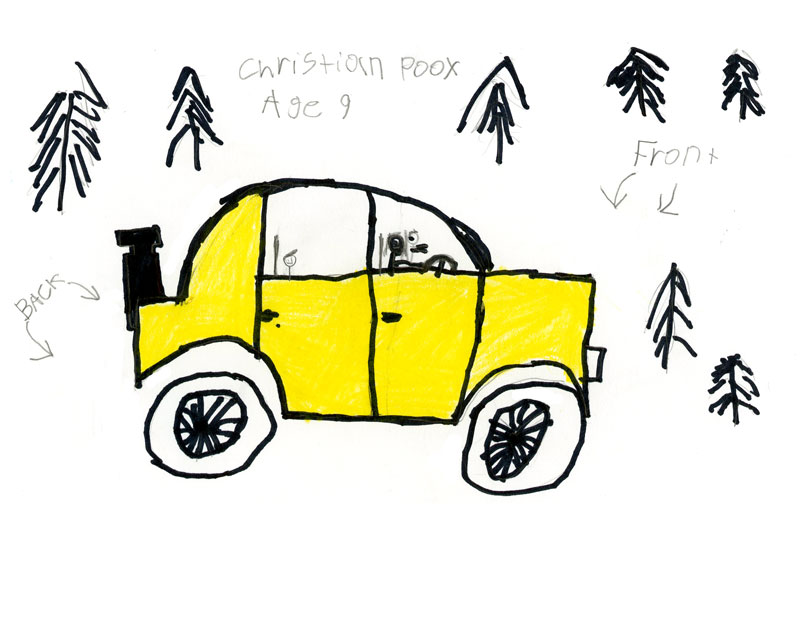 Christian Poox's Drawing of a car