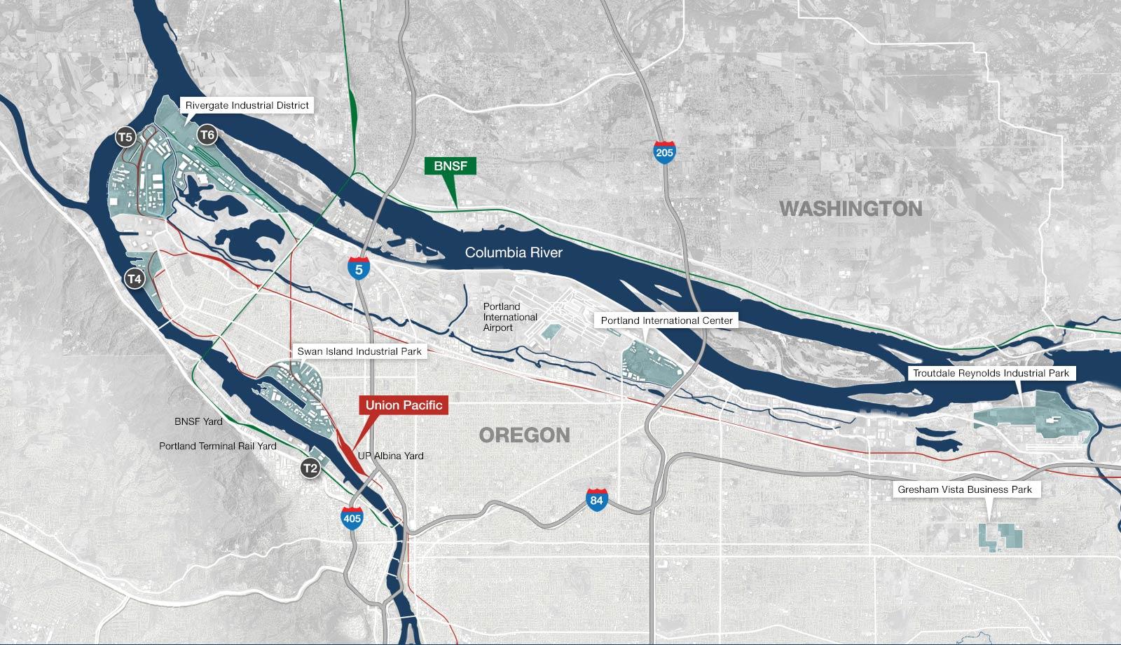 Portland Metro Rail Map
