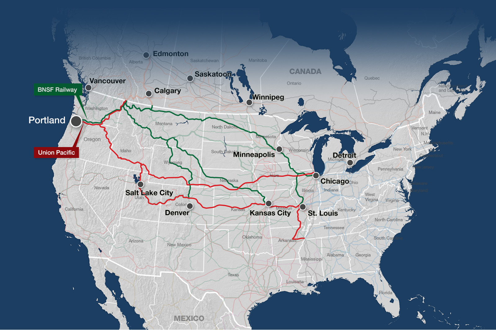 US Rail Map